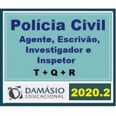CARREIRAS POLICIAIS - ESCRIVÃO, AGENTE, INSPETOR E PERITO - DAMÁSIO - 2020.2