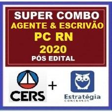 COMBO - AGENTE E ESCRIVÃO PC RN (POLICIA CIVIL DO RIO GRANDE DO NORTE - PCRN ) PÓS EDITAL TEORIA + PASSO - ESTRATEGIA  + CERS RETA FINAL 2020