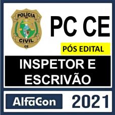 PC CE - INSPETOR E ESCRIVÃO DA POLÍCIA CIVIL DO CEARÁ - PCCE - ALFACON 2021 - PÓS EDITAL