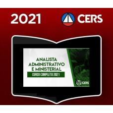 ANALISTA ADMINISTRATIVO - TRIBUNAIS E MINISTÉRIO PÚBLICO - CERS 2021