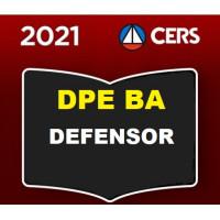 DPE BA - DEFENSOR PÚBLICO DA BAHIA - DPEBA - (CERS 2021)