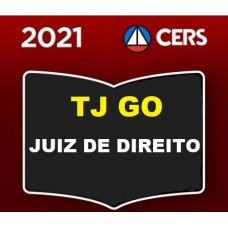TJ GO - JUIZ DE DIREITO DO TRIBUNAL DE JUSTIÇA DO ESTADO DE GOIÁS - TJGO - CERS 2021