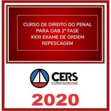 2ª (segunda) Fase OAB XXXI (31º Exame) DIREITO PENAL - CERS 2020