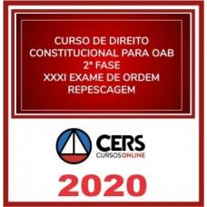 2ª (segunda) Fase OAB XXXI (31º Exame) DIREITO CONSTITUCIONAL - CERS 2020