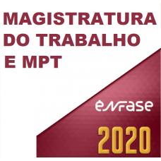 JUIZ DO TRABALHO E PROCURADOR DO TRABALHO (ENFASE 2020) – MAGISTRATURA DO TRABALHO E MPT