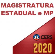 MP E MAGISTRATURAS ESTADUAIS (CERS 2020) MINISTÉRIO PÚBLICO, PROMOTOR, JUIZ, MAGISTRATURA ESTADUAL