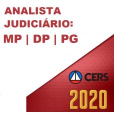 ANALISTA JUDICIÁRIO DE MINISTÉRIO PÚBLICO (MP), DEFENSORIAS E PROCURADORIAS (CERS 2020)