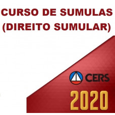 CURSO DE SÚMULAS - DIREITO SUMULAR (CERS  2020)