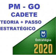 CADETE PM GO (POLICIA MILITAR DE GOIÁS - PMGO) TEORIA + PASSO ESTRATÉGICO - ESTRATEGIA 2020