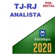 TJ RJ - ANALISTA - SEM ESPECIALIDADE -TJRJ - PÓS EDITAL - ESTRATEGIA 2020