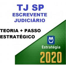 COMBO TJ SP - ESCREVENTE JUDICIÁRIO -TJSP - TEORIA + PASSO ESTRATÉGICO - ESTRATEGIA 2020