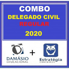 COMBO DELEGADO CIVIL REGULAR - DAMÁSIO + ESTRATÉGIA 2020