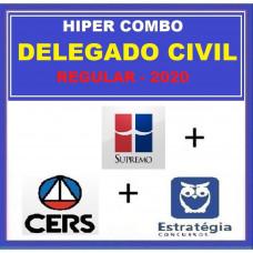 HIPER COMBO DELEGADO CIVIL REGULAR - SUPREMO + CERS + ESTRATÉGIA 2020